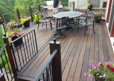 Flowered Wooden Deck
