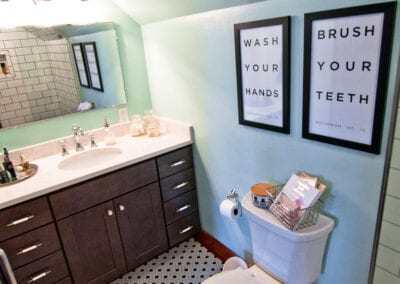 Patterned Flooring with Best In-Class Sink and Toilet Tub Modeling