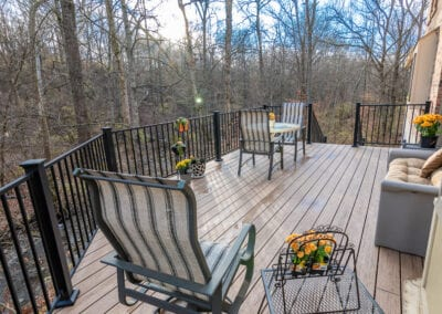 Iron Fenced and Wooden Deck Modeling