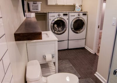 Laundry and Bathroom combined together