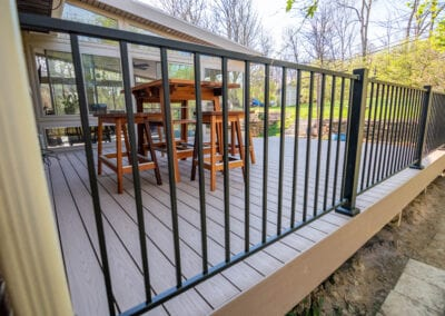 Iron Fenced Deck Modeling